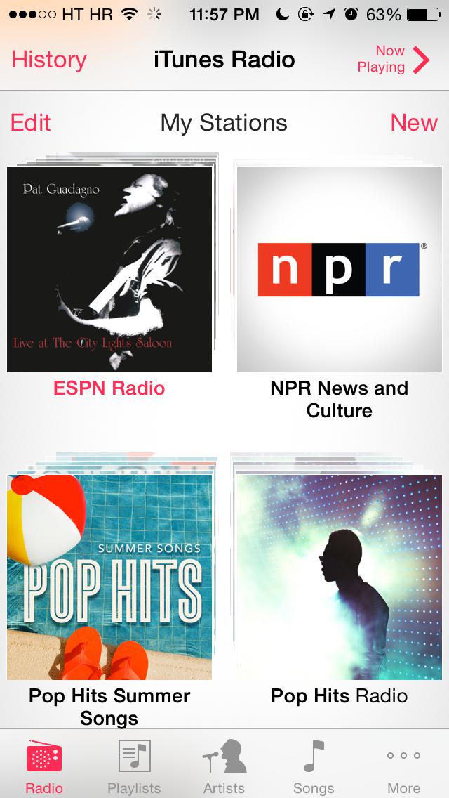 ESP on iTunes Radio (iPhone screenshot 001)