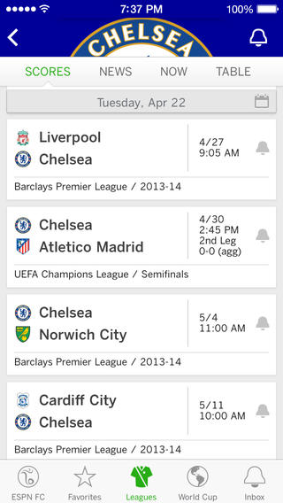 ESPN FC Soccer and World Cup 1.0 for iOS (iPhone screenshot 004)
