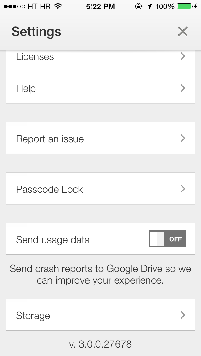 Google Drive 3.0 for iOS (iPhone screenshot 001)