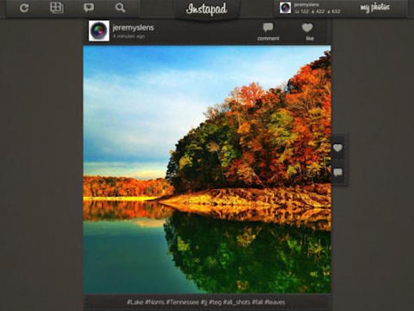Instapad iPad Instagram