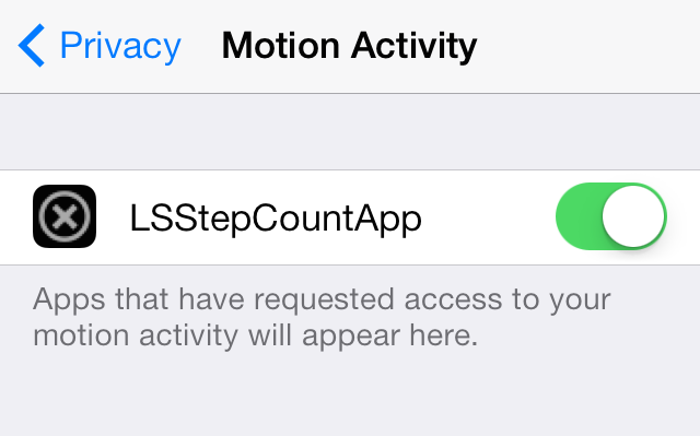 LSStepCount Motion