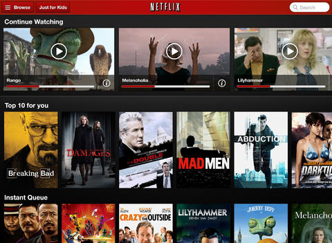 Netflix 5.3 for iOS (iPad screenshot 001)