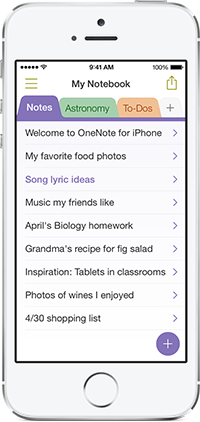 OneNote (iOS 7 look 001)