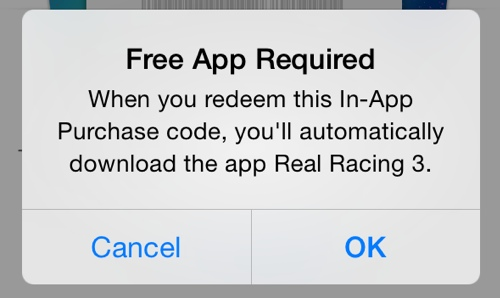 Real Racing 3 (In-App Purchase promo codes 002)