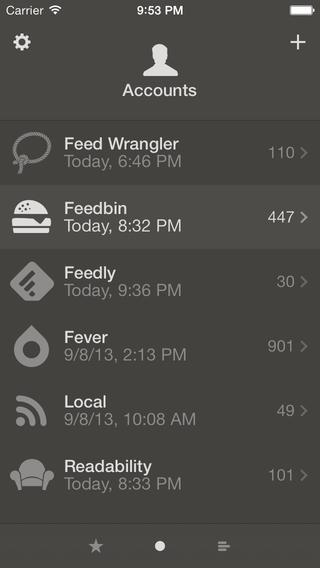 Reeder 2.2 for iOS (iPhone screenshot 001)