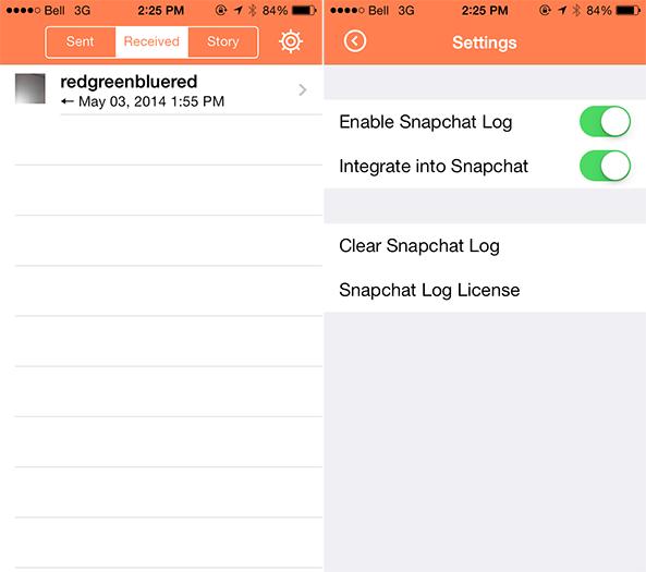 Snapchat Log Cydia