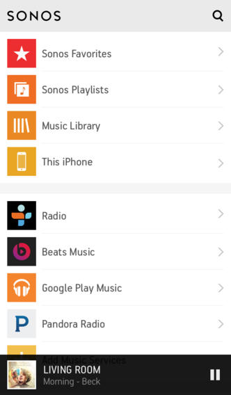 Sonos 5.0 for iOS (iPhone screenshot 001)