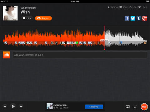 SoundCloud 2.7.2 for iOS (iPad screenshot 002)