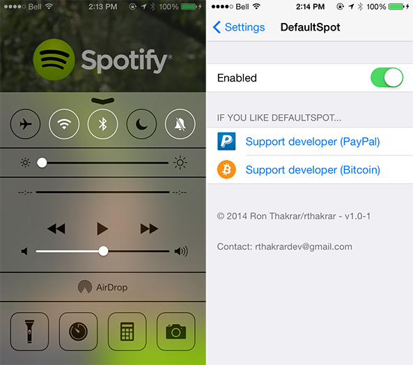 How to set Spotify as the default music player on iPhone