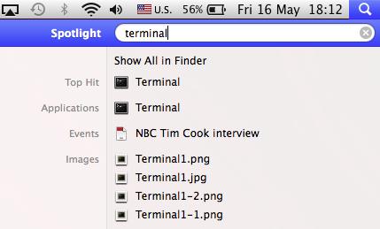 Spotlight (Terminal entry)