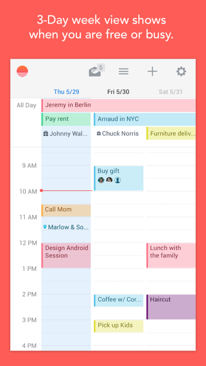 Sunrise Calendar for Android (screenshot 002)