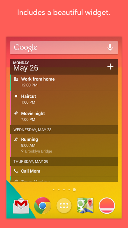 Sunrise Calendar for Android (screenshot 003)