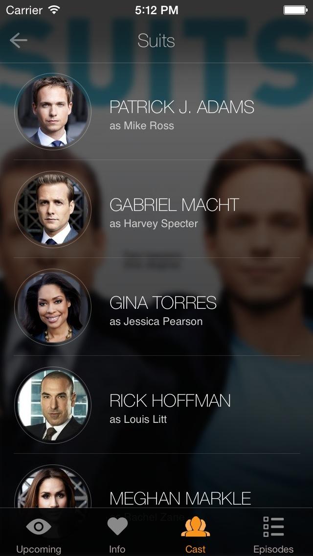 TeeVee 3.0 for iOS (iPhone screenshot 004, Cast)