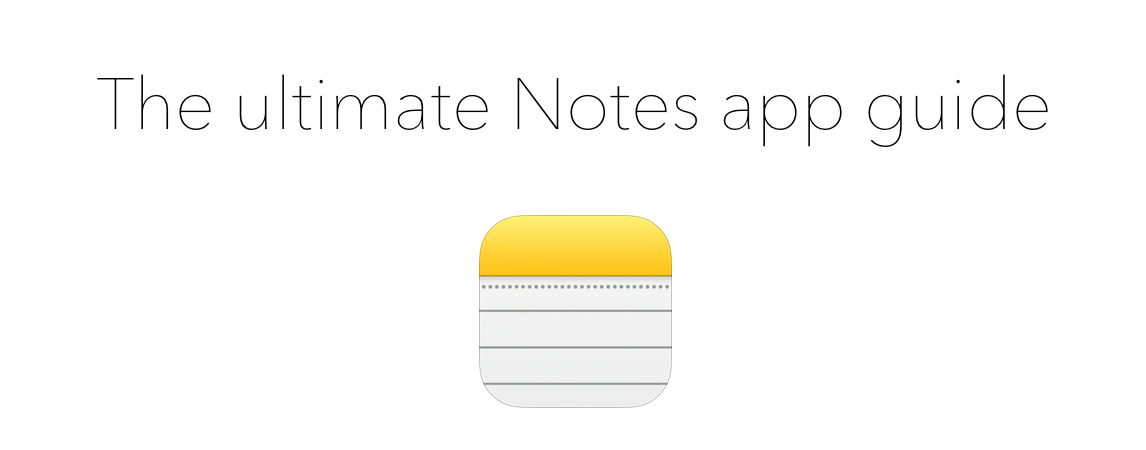 Ultimate guide header Notes app