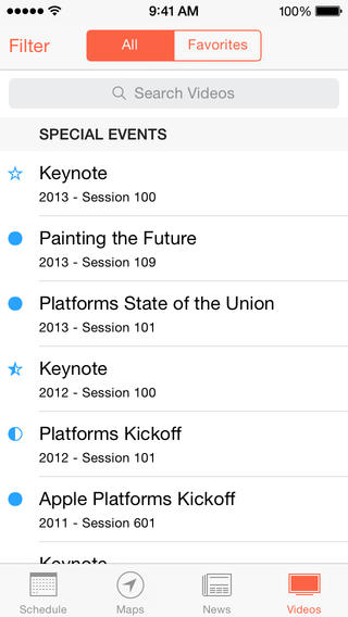WWDC 2.0 for iOS (iPhone screenshot 003)