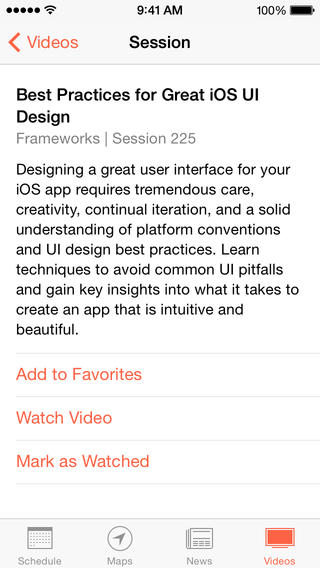 WWDC 2.0 for iOS (iPhone screenshot 004)