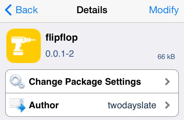 flipflop Cydia