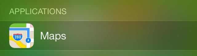 iOS 7 Spotlight Applications