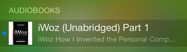 iOS 7 Spotlight Audiobooks