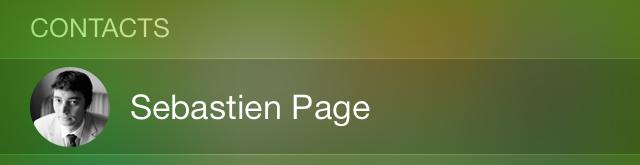 iOS 7 Spotlight Contacts