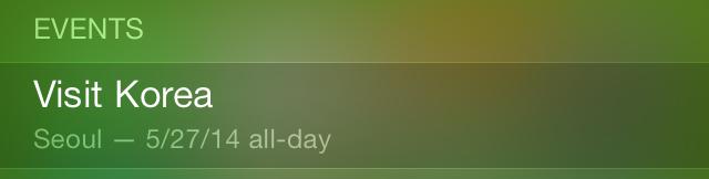 iOS 7 Spotlight Events