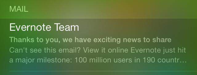 iOS 7 Spotlight Mail