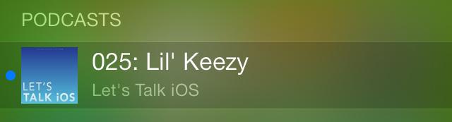 iOS 7 Spotlight Podcasts