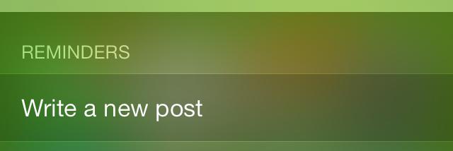 iOS 7 Spotlight Reminders