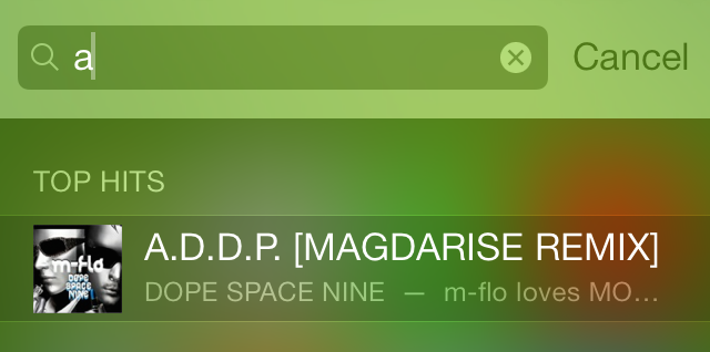 iOS 7 Spotlight Top Hit