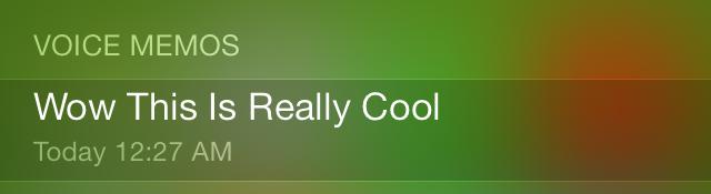 iOS 7 Spotlight Voice Memos