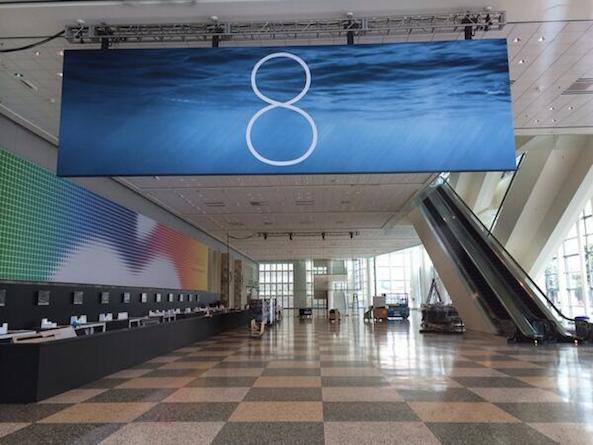 iOS 8 banner up