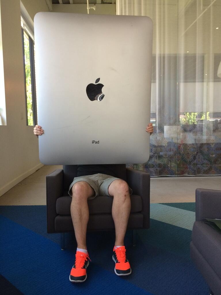 Photo Of Oversized Ipad Pro Dummy Surfaces