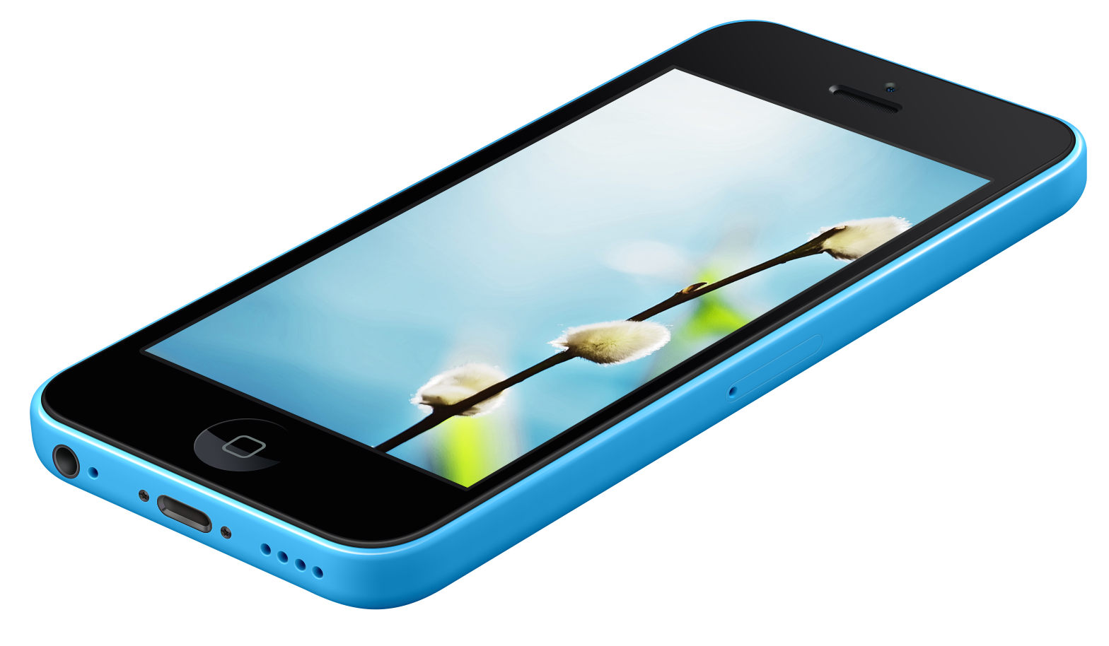 iPhone 5c Blue summer wall splash