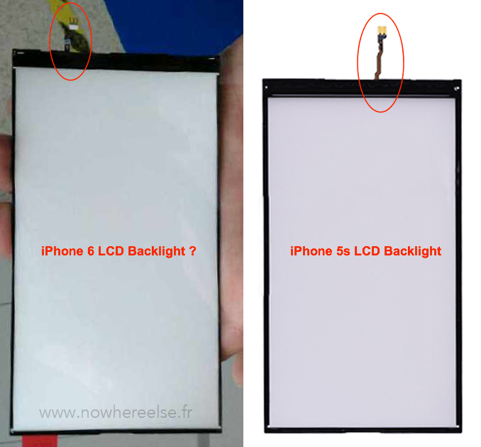 iPhone 6 vs iPhone 5s backlight (NowhereElse 001)