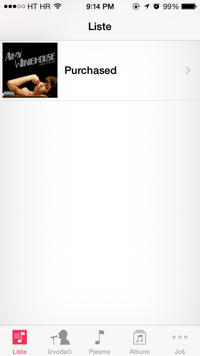 iTunes Radio (Croatian App Store, Croatian)