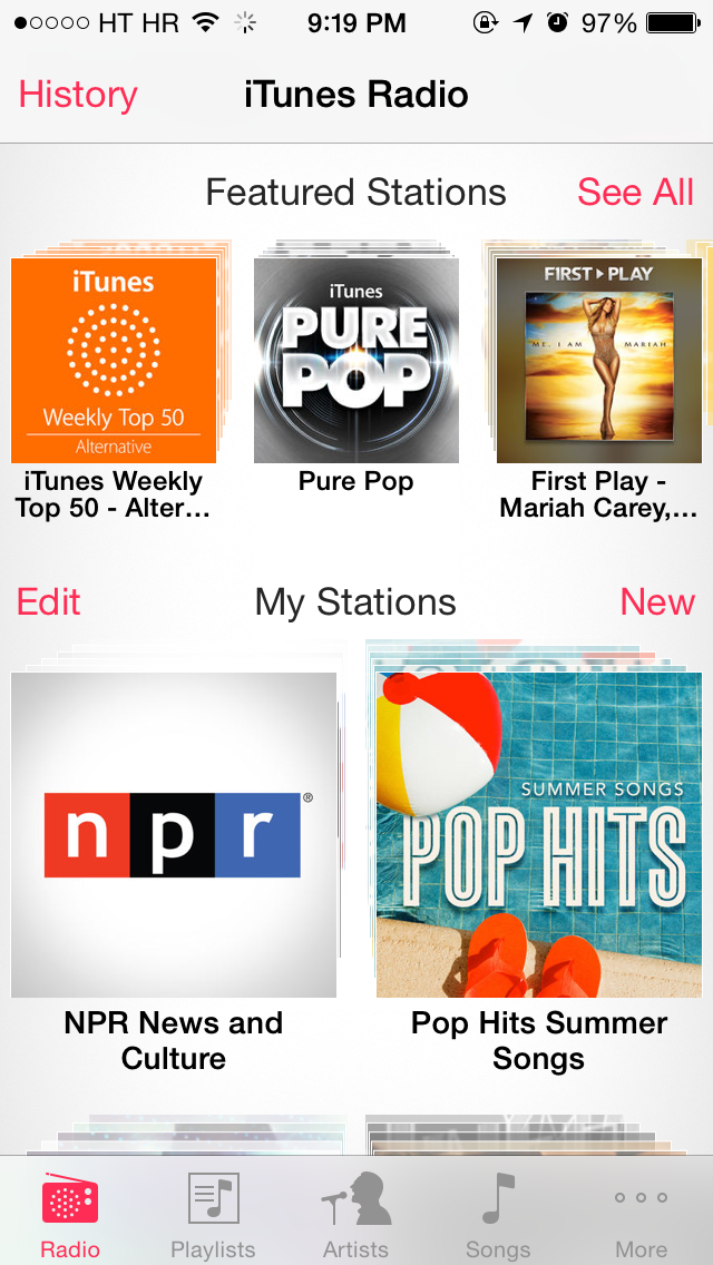 iTunes Radio (US App Store, English)