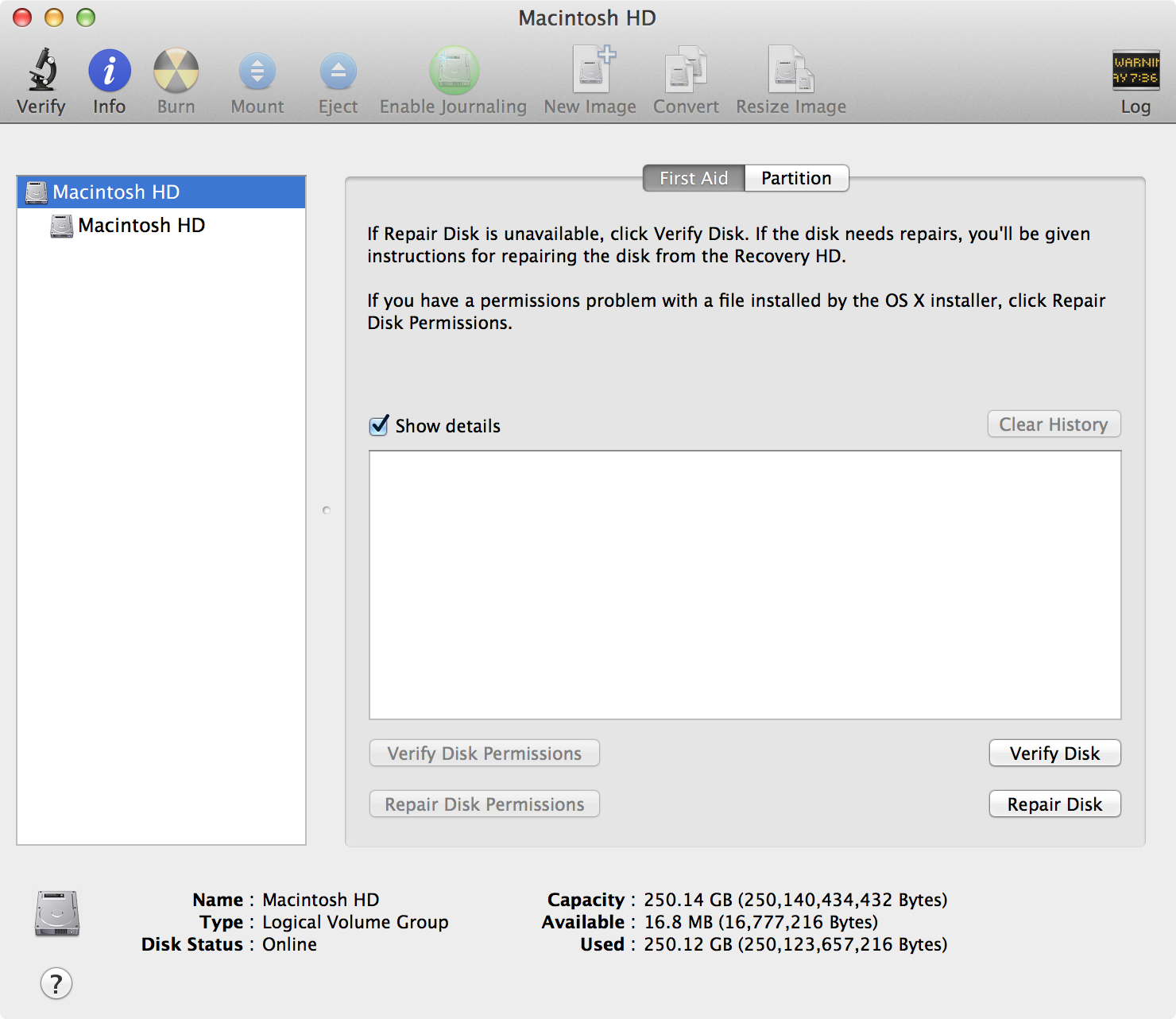 02 disk utility select volume