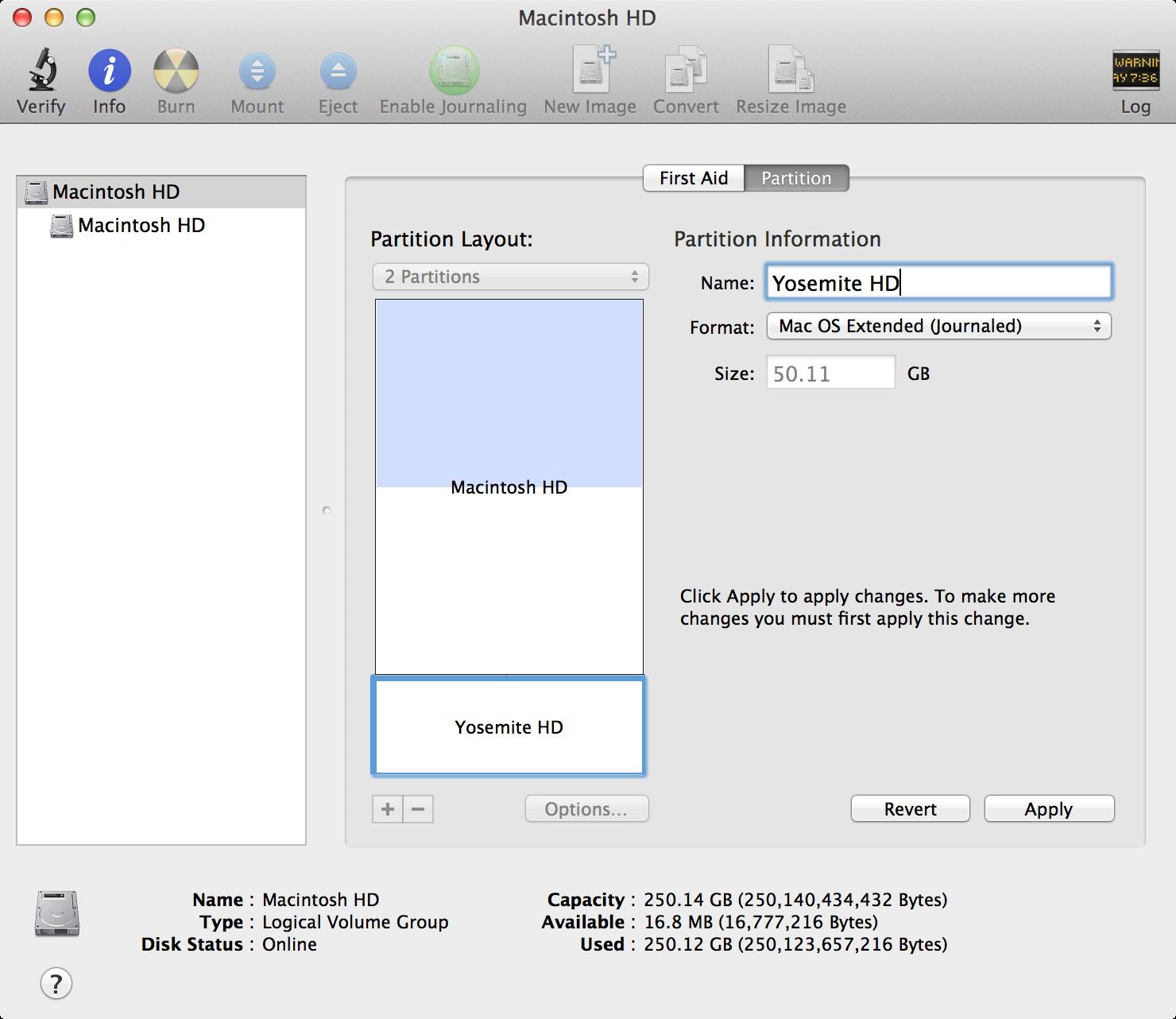 07 disk utility name input box