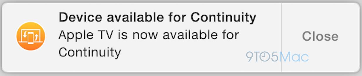 Apple TV Continuity