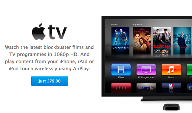 Apple TV price cut in UK