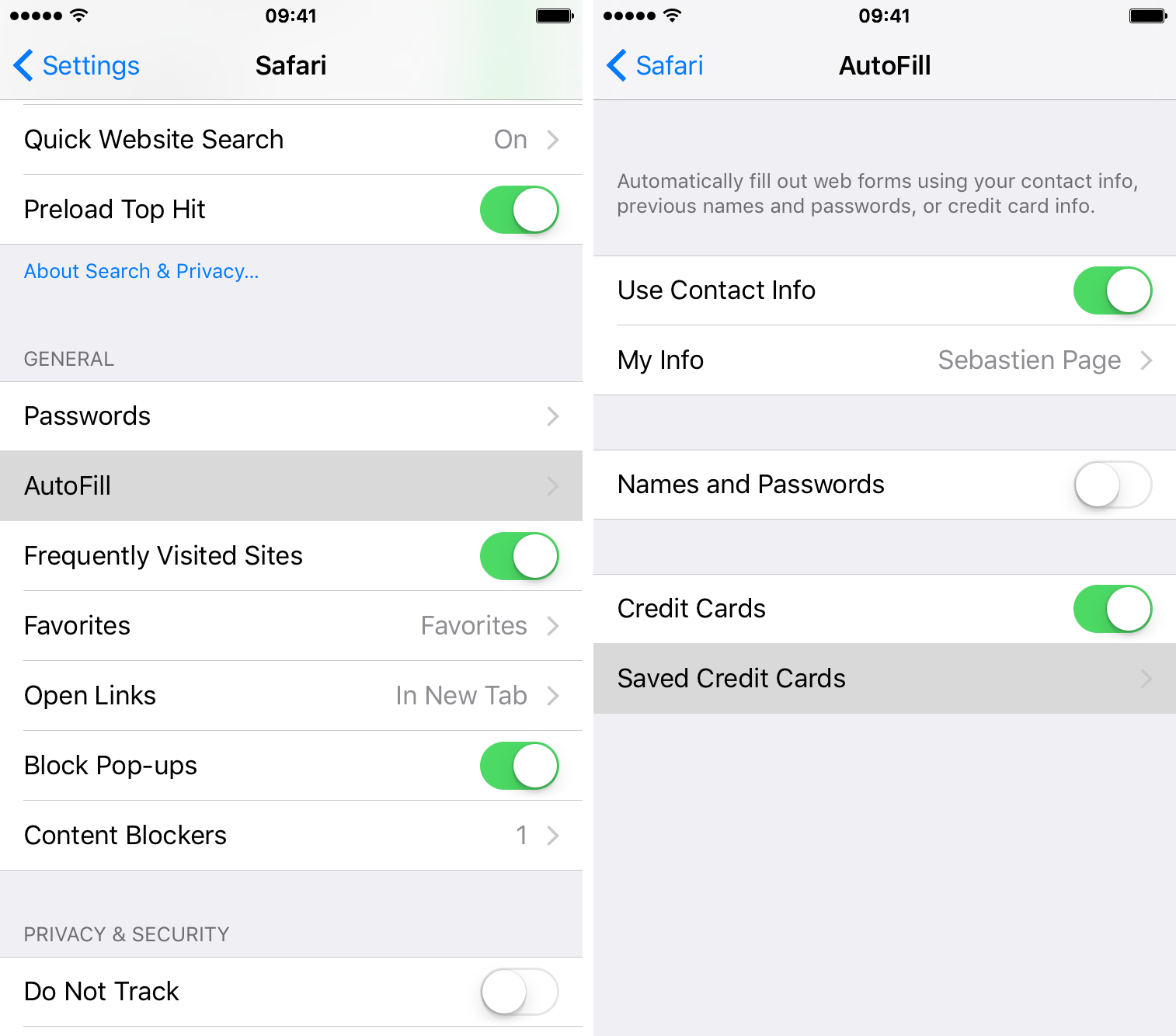 How to remove credit card info from iCloud Keychain