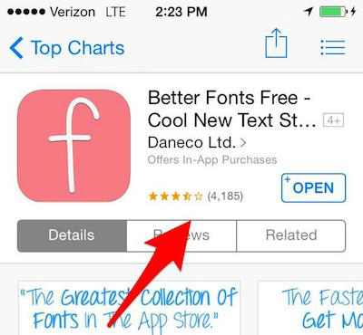 Better Font Free App Store Manipulation
