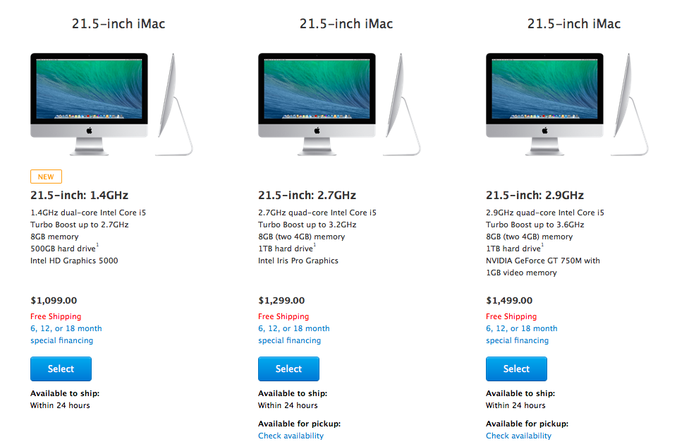 Cheaper iMac on online Appl Store (image 001)