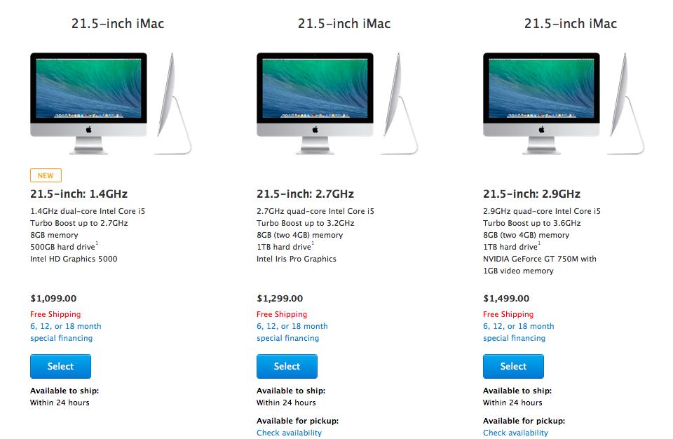 Cheaper iMac on online Appl Store (image 001)