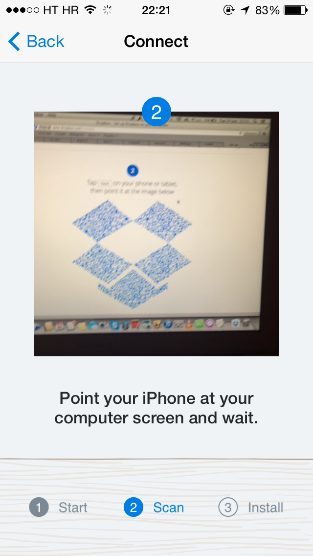 how to set up dropbox on a computer using your iphone u0026 39 s camera