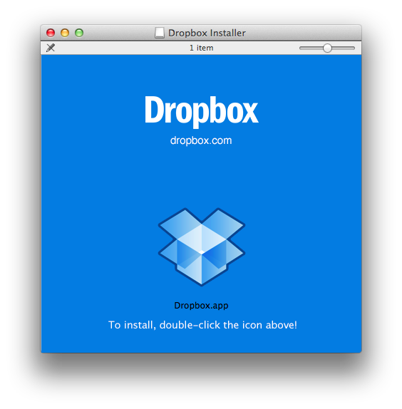 Dropbox for Mac (Installer 001)