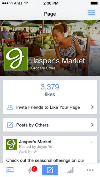 Facebook Pages Manager 4.0 for iOS (iPhone screenshot 001)