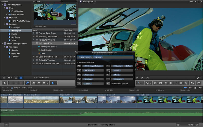 Final Cut Pro X 10.1.2 for OS X (Mac screenshot 001)