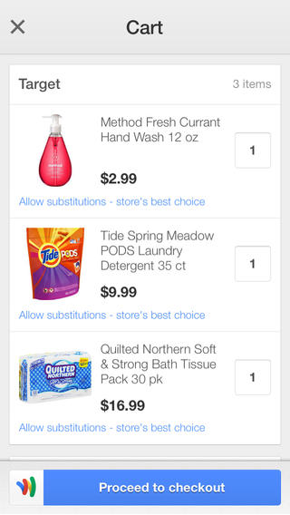 Google Shopping Express (iPhone screenshot 003)