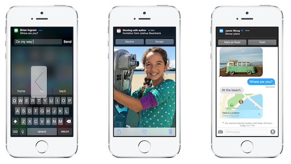Interactive Notifications iOS 8